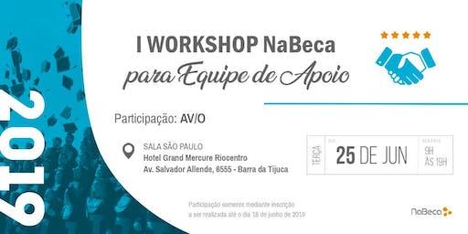 I WORKSHOP NABECA PARA EQUIPE DE APOIO