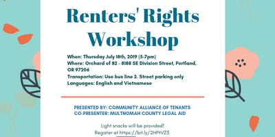 Renters' Rights Workshop