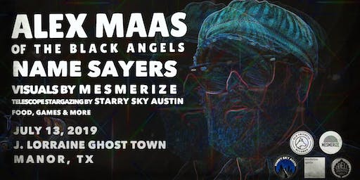 Alex Maas & Name Sayers at the J. Lorraine Ghost Town, with visuals by Mesmerize