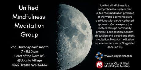 Unified Mindfulness Meditation Group - Second Thursdays, July 2019 tickets