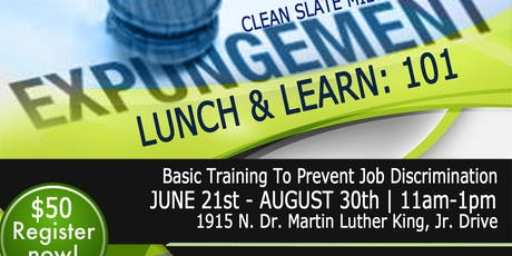 Expungement 101 Lunch and Lunch: Basic Training to Prevent Discrimination  tickets