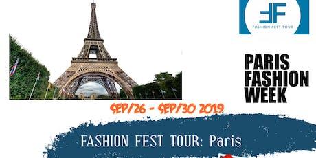 Fashion Fest Tour Designer Registration PARIS tickets