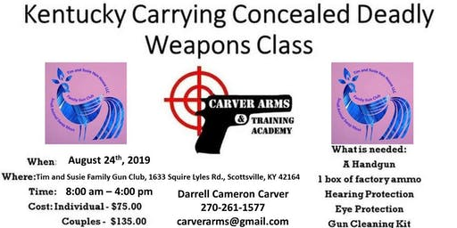 Concealed Carry of Deadly Weapons Class