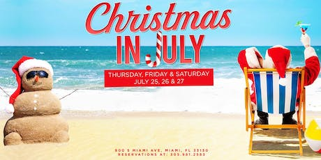 Blue Martini Brickell | Blue Christmas In July  tickets