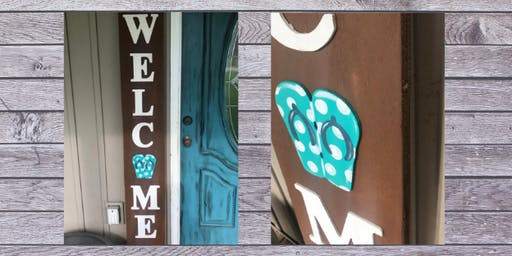 Welcome Porch  Leaner Sign Workshop