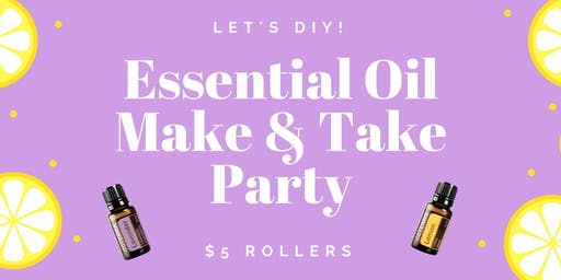 Essential Oil Roller ball Make - n - Take *FREE Workshop*