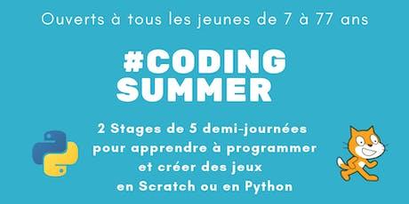 #Coding Summer - Apprendre à programmer et créer des jeux avec Scratch billets