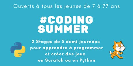 #Coding Summer - Apprendre à programmer et créer des jeux avec Python billets