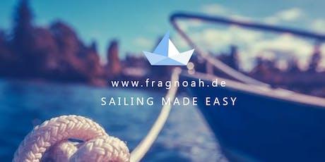 Segeln Sailing in Berlin für alle Erfahrungsstufen *keine Vorkenntnisse notwendig* Tickets