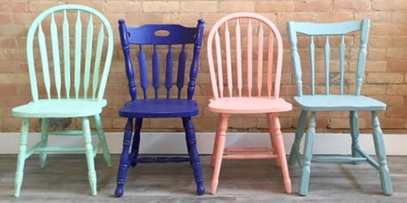 Learn how to CHALK PAINT like a pro!  - Do your own chair! tickets