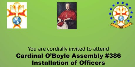 Cardinal O'Boyle Assembly 2019 Installation of Officers tickets