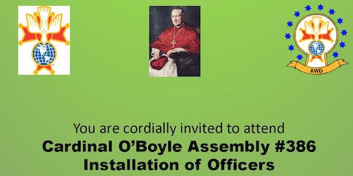 Cardinal O'Boyle Assembly 2019 Installation of Officers