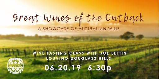 LouVino Douglass Hills Wine Class: Great Wines of the Outback