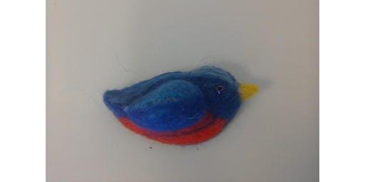 Beginner's Needle Felting - Bird Brooch