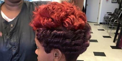 Mink Luxe Signature Cut 'n Color (1/2 Off Color) and Throwback Press 'n Curl $35