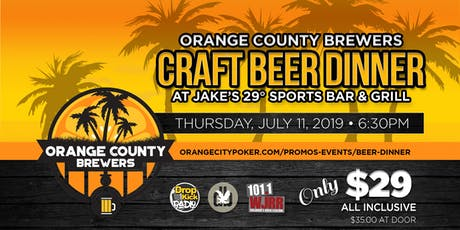 Craft Beer Dinner Ft. Orange County Brewers tickets