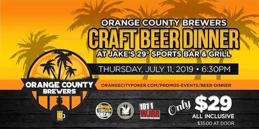 Craft Beer Dinner Ft. Orange County Brewers