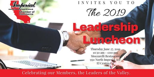 Imperial Chamber of Commerce's Leadership Luncheon