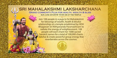 Sri Mahalakshmi Laksharchana:  For Wealth, Health & Blissful Relationships