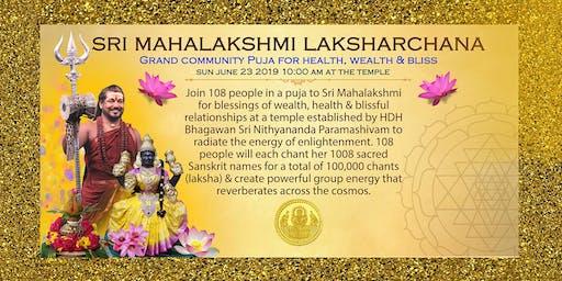Sri Mahalakshmi Laksharchana:  For Wealth, Health & Blissful Relationships