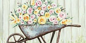 Paint and Sip Tea Tonasket: Wheelbarrow Planter