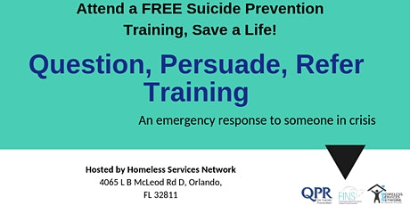 QPR Suicide Prevention Training Hosted by Homeless Services Network tickets
