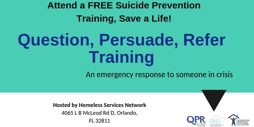 QPR Suicide Prevention Training Hosted by Homeless Services Network