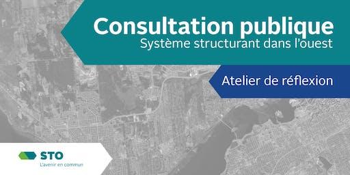 Atelier de réflexion sur le système structurant dans l'ouest de Gatineau