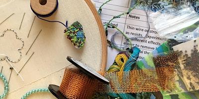 Stitching with Liz & Helen.....Stumpwork Sampler