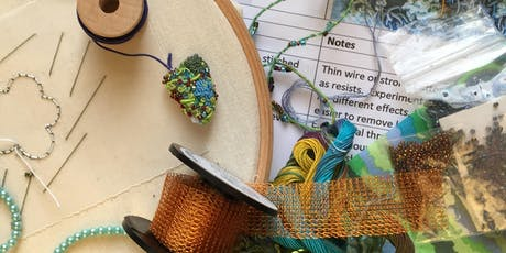 Stitching with Liz & Helen.....Stumpwork Sampler tickets