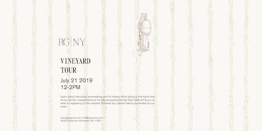 Vineyard Tour and Tasting at RG|NY-July