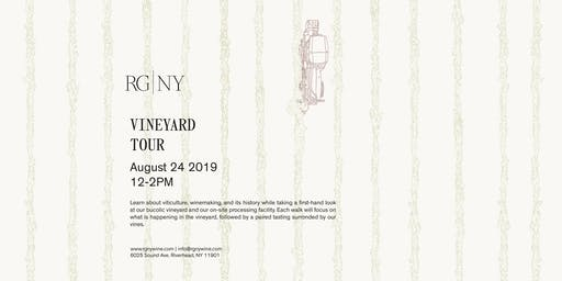 Vineyard Tour and Tasting at RG|NY-August