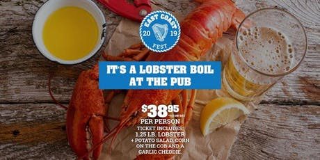 D'Arcy McGee's Sparks Street Lobster Boil tickets