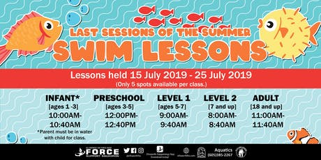 Ellsworth AFB Swim Lessons for July tickets