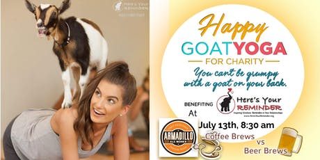 Happy Goat Yoga: Coffee Brews vs Beer Brews at Armadillo Ale Works tickets