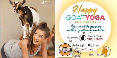 Happy Goat Yoga: Coffee Brews vs Beer Brews at Armadillo Ale Works tickets