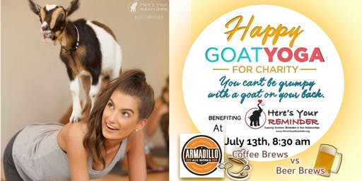 Happy Goat Yoga: Coffee Brews vs Beer Brews at Armadillo Ale Works