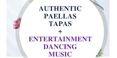 Authentic Paella Valenciana + Latino Dancing tickets