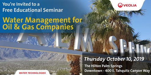 Water Management Seminar for Oil & Gas Companies