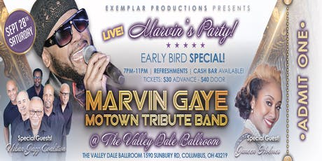 MARVIN GAYE MOTOWN TRIBUTE BAND CONCERT! @ THE VALLEY DALE! MARVIN'S PARTY! tickets