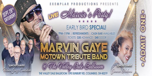 MARVIN GAYE MOTOWN TRIBUTE BAND CONCERT! @ THE VALLEY DALE! MARVIN'S PARTY!