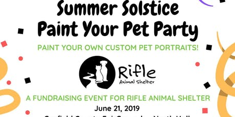 Paint Your Pet: Fundraiser for Rifle Animal Shelter tickets
