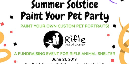 Paint Your Pet: Fundraiser for Rifle Animal Shelter