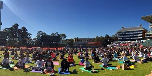 Yoga at Somerset Patriots Stadium