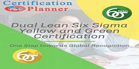 Dual Lean Six Sigma Yellow and Green Belt with CP/IASSC Exam, Jacksonville tickets