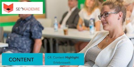Content Highlight Seminar (C4), Erlebniswelt für Google & SEO tickets