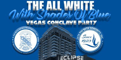 Las Vegas Sigmas & Zetas All White With Shades Of Blue Party