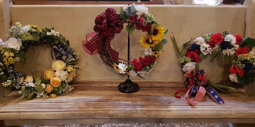 Holiday Grapevine Wreath  $45.00