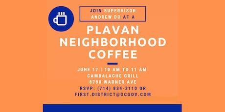 Plavan Neighborhood Coffee with Supervisor Andrew Do tickets