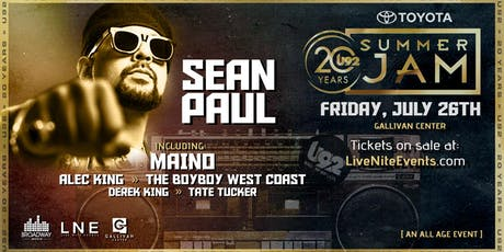 Toyota Presents U92 Summer Jam ft. Sean Paul tickets